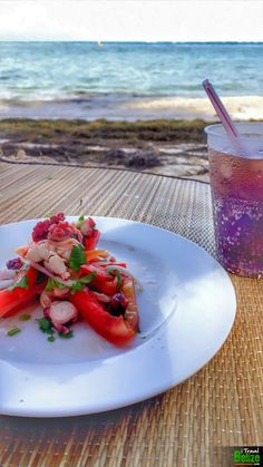 BAM! El Divino saves the day with their incredible Octopus & Shrimp ceviche, also delivered to us at the beach!!