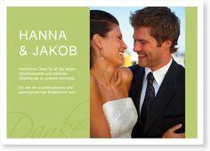 Hochzeit Dankeskarte - Danke in Grün