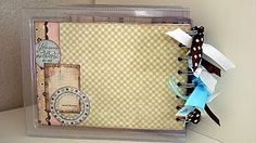 JustRite Entry #12 Katie Piotrowski back view of baby brag book made from recycled Spellbinders Packaging,