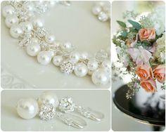 Bridal Jewelry SET Pearl Bridal Jewellery SET by SarahWalshBridal