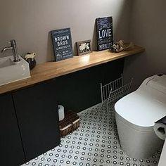 Bathroom/トイレ/フォトフレーム/ナチュラル/北欧/ドライフラワー...などのインテリア実例 - 2017-04-05 06:19:34