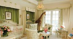 Nursery Ideas For Small Spaces | ... layers will control air flow in this beautiful nursery for twin girls