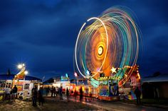 A twilight photo of amusement rides at the Mudgee Showw. Photo by Amber Hooper Twilight Photos, First Photo, Cotton Candy, Amber, Fair Grounds, Projects, Travel, Log Projects, Voyage