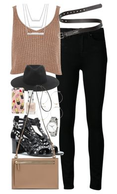 """""""Outfit for spring"""" by ferned ❤ liked on Polyvore featuring Paige Denim, River Island, Acne Studios, rag & bone, Yves Saint Laurent, Forever 21, Casetify and Topshop"""