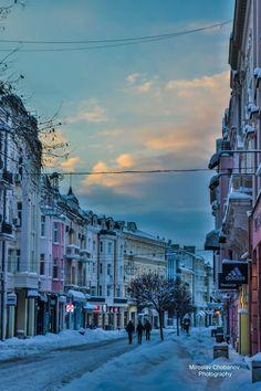 Plovdiv's snowy Main Street