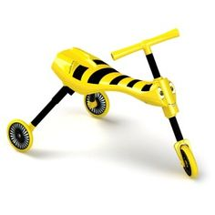 Children Ride Toys Scuttlebug Bumble Yellow and Black Kids Skills Foldable Bike Lego Ninjago, Kids Trike, Car Parts And Accessories, Shops, Thing 1, Ride On Toys, Pedal Cars, Black Kids, Infant Activities