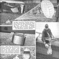 The Future That Never Was - Next-Gen Tech Concepts - Popular Mechanics  Mail delivery by Parachute