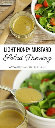 Light Honey Mustard Salad Dressing by The Toasty Kitchen