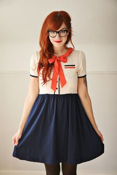 Red head with adorable outfit!
