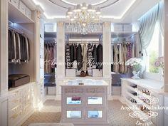 Дизайн интерьера хозяйской гардеробной в стиле Ар Деко в Барселоне. Фото 2016 - Дизайн гардеробной