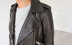 The AllSaints Leather - Chloe Perkins  AllSaints Balfern Leather Biker