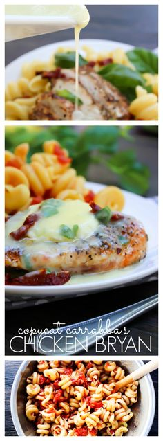 Copycat Carrabba's Chicken Bryan grilled chicken topped with goat cheese, sun-dried tomatoes and drizzled with a lemon butter sauce would be wonderful! And Easy!!