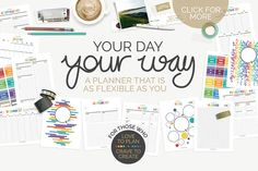 Printable Planner 2016 Core { kit } by Jacqui E Smith on Creative Market