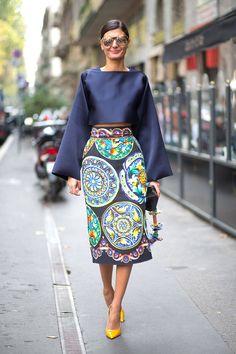 Perfecto conjunto para ir de invitada a una boda - Milan Fashion Week Street Style Spring 2015