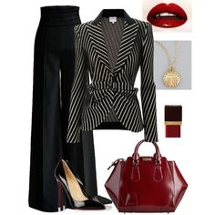Work Wear by lisamur on Polyvore featuring Armani Collezioni, Christian Louboutin, Burberry, Tory Burch and Tom Ford