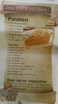 Tart Recipes, My Recipes, Baking Recipes, Dessert Recipes, Favorite Recipes, Recipies, Oven Recipes, Braai Recipes, Veggie Recipes