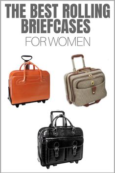 0f49a380b7 Roll into work with style with the best rolling briefcases for women. Here  are great
