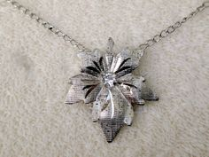 Vintage Sterling Silver Maple Leaf Necklace by BelmarJewelers