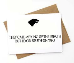 Funny Game of Thrones Valentines Day Card, Love card by SpicyCards on Etsy https://www.etsy.com/au/listing/235014323/funny-game-of-thrones-valentines-day