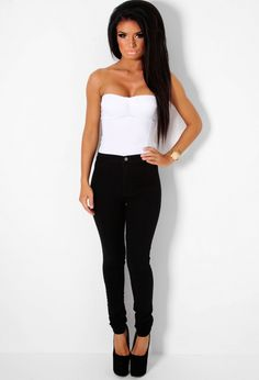 High Waisted Skinny Jeans4 Black Jeans, Skinny Jeans, Pants, Tops, Women, Fashion, Skinny Fit Jeans, Moda, Trousers