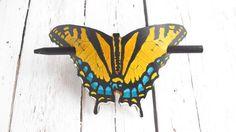 Butterfly Hair Stick Barrette Swallowtail by AmysLeatherLane