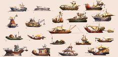 Junk Boat Thumbnails by MeckanicalMind.deviantart.com on @deviantART