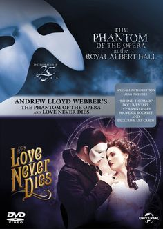 Phantom of the Opera / Love Never Dies Double Pack DVD: Amazon.co.uk: Ramin Karimloo, Sierra Boggess, Andrew Lloyd Webber, Cameron Mackintosh: DVD & Blu-ray