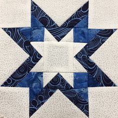 Hand Made Karma: Blue & White Sampler Quilt - Six Inch Blocks Complete Star Quilt Blocks, Star Quilts, Easy Quilts, Amish Quilts, Patchwork Quilt Patterns, Hexagon Quilt, Square Quilt, Quilting Tutorials, Quilting Projects