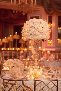 2817 best wedding centerpieces images on pinterest wedding love the centerpieces flower table cloth breathtaking new york wedding with ballroom glamour decor modwedding junglespirit Images