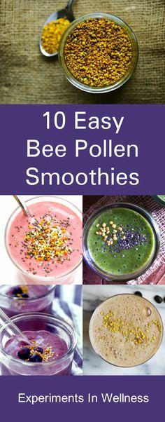 Surprising Health Benefits Of Bee Pollen 10 Surprising Health Benefits Of Bee Pollen Green Smoothie Recipes, Healthy Smoothies, Green Smoothies, Breakfast Smoothies, Bee Pollen Smoothie, Experiment, Vegetarian Recipes, Healthy Recipes, Superfood Recipes