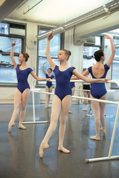 Students of the Jacqueline Kennedy Onassis School at ABT working at the barre. (Photo by Rosalie O'Connor, courtesy ABT)