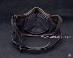 Masque cuir 'Menpo' anti-pollution