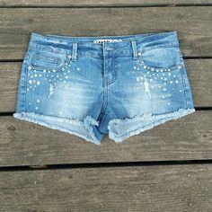 Zana-di studded Bling shorts Zana-di studded Bling shorts. Size 9. Zana-di Shorts Jean Shorts