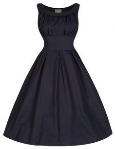 Black 'High Waist' Vintage Evening Dress UK 8-26 #plussize #dresses #vintage #fashion #rockabilly #Pinup #silverscreen #onlineshopping