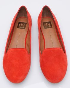 Dolce Vita Gilly Flat in a poppy suede, I just got a pair this weekend! (and a second in beige!) I <3 them!