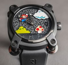 Ariel Adams talks about reliving his childhood with the Romain Jerome Super Mario Bros. Debuted in 2015 so as to coincide with the anniversary of the Super Mario Bros. Romain Jerome, Amazing Watches, Cool Watches, Wrist Watches, Super Mario Bros, Most Popular Watches, Watch Blog, Luxury Watches For Men, Men Necklace