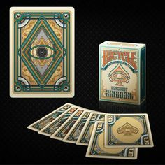 Bicycle Blackout Kingdom Deck (Light Shade) by Gambler's Warehouse - Very Limited Edition