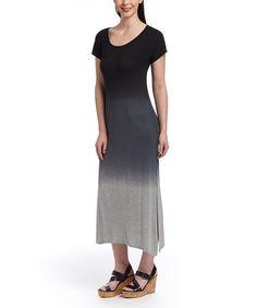 This Black Dip-Dye Maxi Dress is perfect! #zulilyfinds