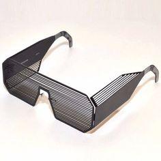 Boris Bidjan Saberi x Linda Farrow Sunglasses Goggles Matt Black