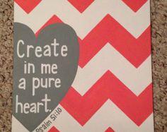 Scripture Canvas Psalm 51:10