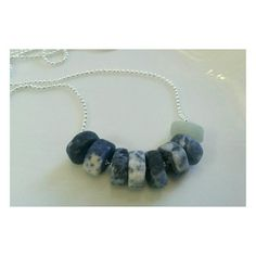 Silver plated ball chain + Sodalite + Amazonite 26 inches in length   Amazonite balances feminine and masculine energy, and promotes
