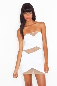 White Out Mesh Dress - StyleSays