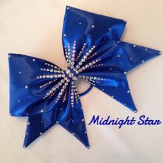 Midnight Star - Hand Sewn Fabric Cheer Bow by BlingItOnDesignsCA on Etsy https://www.etsy.com/listing/233328814/midnight-star-hand-sewn-fabric-cheer-bow