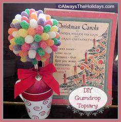DIY Miniature Gumdrop Topiary - Always the Holidays