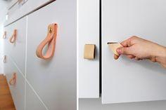 Tiradores de cuero para renovar tus muebles  | Decofilia.com