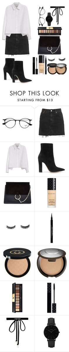 """You don't own me"" by josmarietommo ❤ liked on Polyvore featuring Ray-Ban, Topshop, Y's by Yohji Yamamoto, Gianvito Rossi, Chloé, Gucci, Givenchy, Becca, Yves Saint Laurent and Joomi Lim"