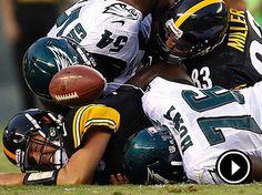 The Eagles will seek to keep Steelers quarterback Ben Roethlisberger down in Sunday´s game. Ben Roethlisberger, Philadelphia Eagles Football, Best Football Team, Die Hard, Local News, Football Helmets, Nfl, Sunday, David