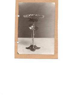 Gustav Gaudernack design for David Andersen, silver gilt decorative vase with sunflower and leaves in plique-a-jour enamel. 1908-1910