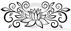flor de loto dibujo blanco y negro - Buscar con Google