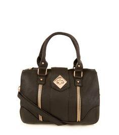 Black Zip Bowler Bag